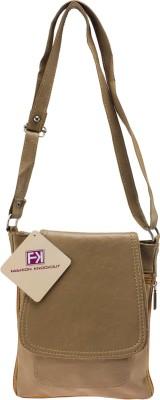 Fashion Knockout Girls, Women Brown PU Sling Bag