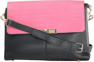Home Union Women Casual Pink PU Sling Bag