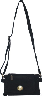 Lolaski Women Black Denim Sling Bag