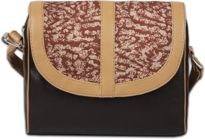 Borsavela Women Brown PU Sling Bag
