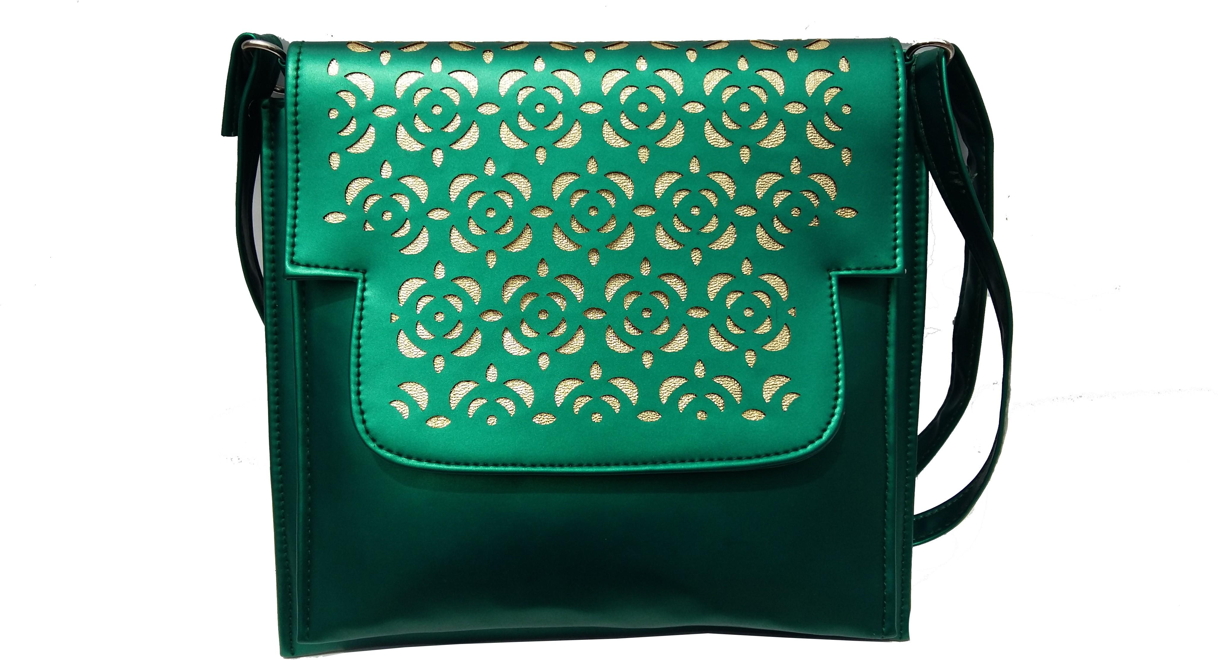 Sling bag below 500 - Surmount Girls Women Green Canvas Sling Bag