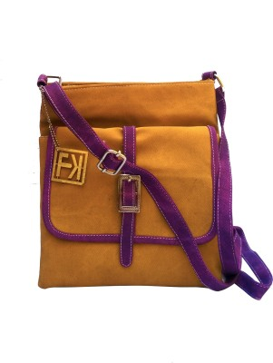 Fashion Knockout Girls, Women Brown Leatherette Sling Bag