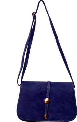 Parv Collections Women Casual Blue Leatherette Sling Bag