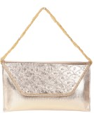 Reedra Women Gold PU Sling Bag