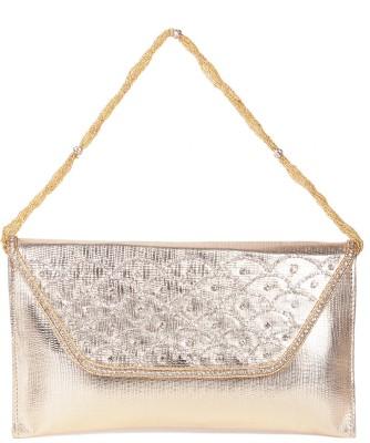Reedra Girls, Women Gold PU Sling Bag