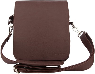 Shrih Men, Women Brown PU Messenger Bag