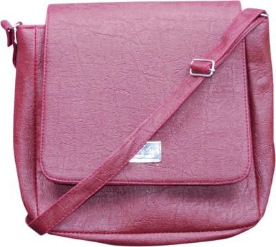 Deox Girls Maroon PU Sling Bag