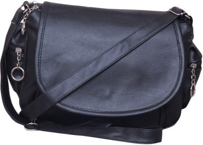 Notbad Girls Black Leatherette Sling Bag