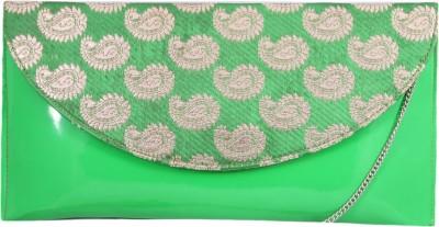 Pinkdivaas Women Green Rexine Sling Bag