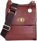 Lino Perros Women Brown Leatherette Slin...