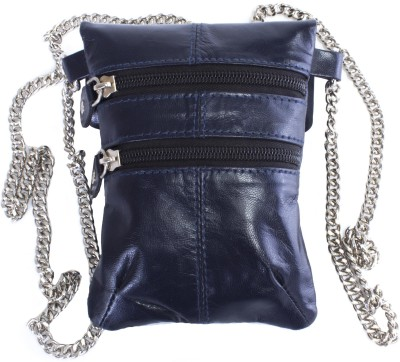 Tee Ess Girls, Women Evening/Party, Casual Blue Genuine Leather Sling Bag