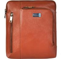 Adone Men & Women Tan Genuine Leather Sling Bag