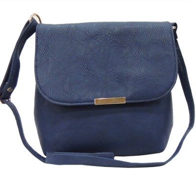 Madame Exclusive Girls, Women Blue Leatherette Sling Bag
