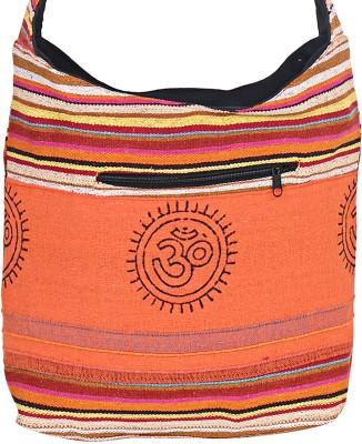 Jaipuri Haat Girls Orange Cotton Sling Bag