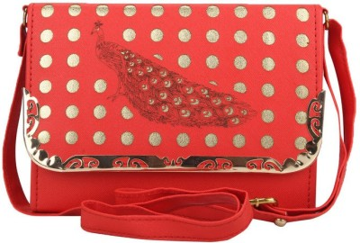 Red Rose Women Red PU Sling Bag