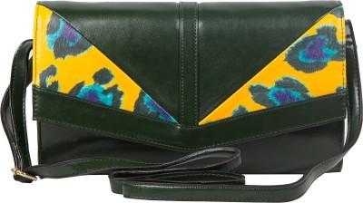 Lomond Women Evening/Party Green PU Sling Bag
