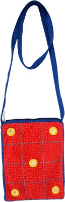 Viniyog Women Casual Red, Blue Cotton Sling Bag