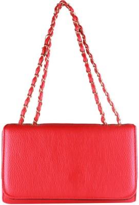 Fiza Women Red Leatherette Shoulder Bag