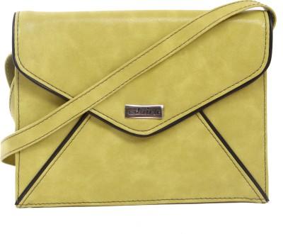 Adaira Girls Casual Green PU Sling Bag