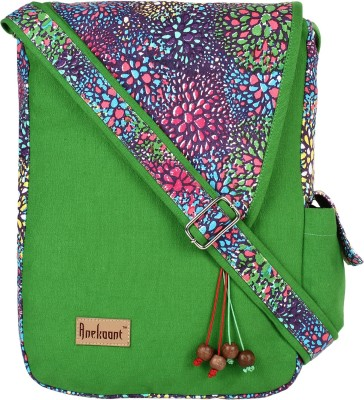Anekaant Women Green, Multicolor Canvas Sling Bag