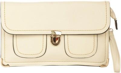 Vero Couture Women White PU Sling Bag