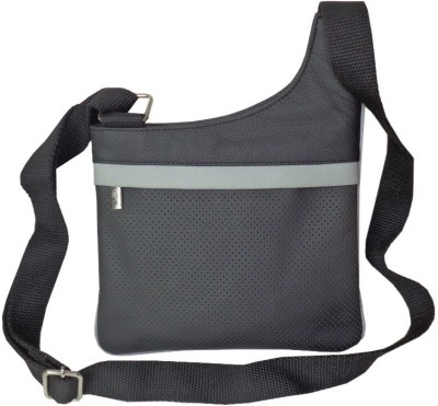 Style 98 Women Casual Black Genuine Leather Sling Bag