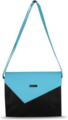 Touristor Women Black, Blue Leatherette, PU Sling Bag