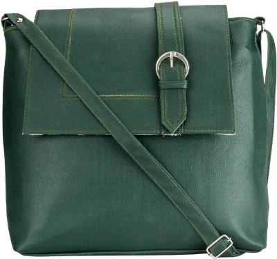 Style Zone Women Green PU Sling Bag