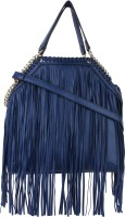 London Design Women Blue Leatherette Sling Bag