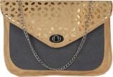 MGG Women Gold Rexine Sling Bag