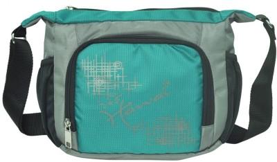 Hawai Men, Women Green, Grey Polyester Sling Bag
