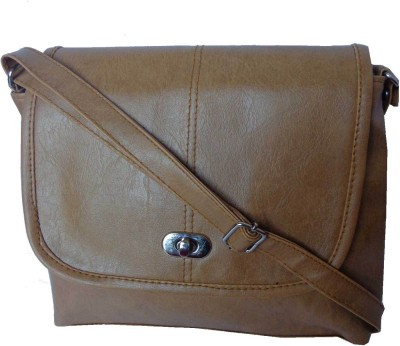 Good Life Stuff Women Tan Leatherette Sling Bag