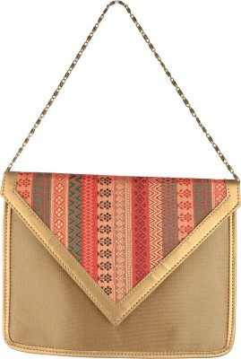 Aquila Women Gold Nylon Sling Bag