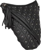 Tomas Women Black Leatherette Sling Bag
