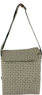 Delfe Women Casual Black Canvas Sling Bag