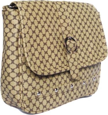 WEEBILL Girls Beige PU Sling Bag