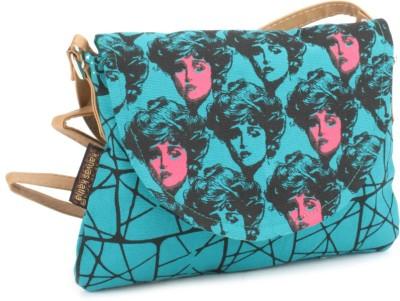 Kanvas Katha Women Blue Canvas Sling Bag