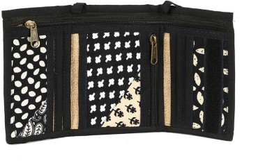Cute Things Girls, Women Black Cotton, Jute Sling Bag