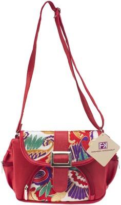 Fashion Knockout Girls, Women Red PU Sling Bag