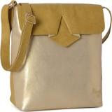 Baggit Women Gold Rexine Sling Bag