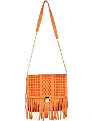 Lizzie Women Orange PU Sling Bag