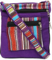Kraftrush Women Purple Cotton Sling Bag
