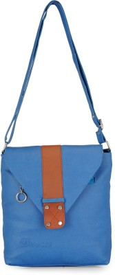 Bags Craze Women Blue PU Sling Bag