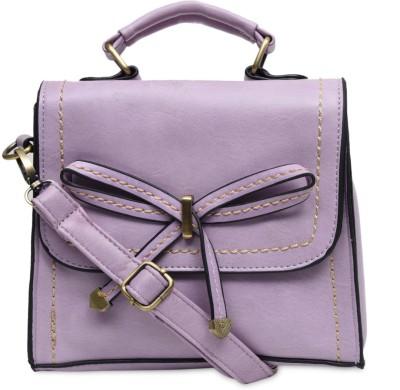 The Backbencher Women, Girls Purple Leatherette Sling Bag