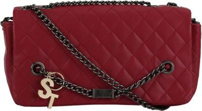 Stylathon Women Maroon PU Sling Bag