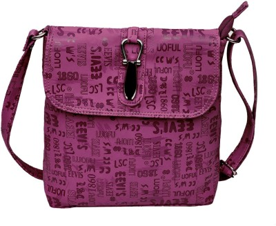 Hawai Women Casual Purple PU Sling Bag