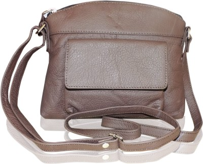 Style 98 Girls Brown Genuine Leather Sling Bag