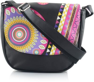 Shaun Design Women, Girls Black Leatherette Sling Bag