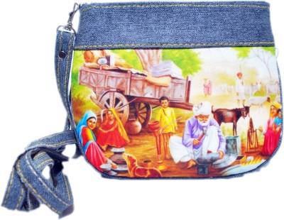 Manera Girls Casual Grey Rexine Sling Bag