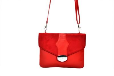 Hide Bulls Girls Red Velvet Sling Bag